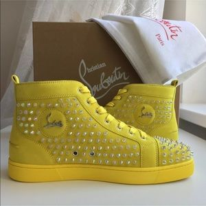 Christian Louboutin Orlato Yellow Suede Sneakers